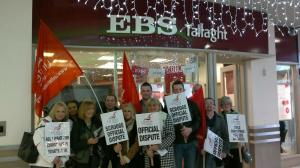EBS Unite members pictured during picket in 2011