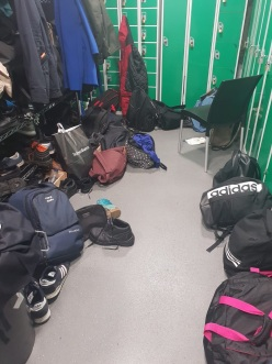 Locker and changing room facilities for staff at a Dublin restaurant